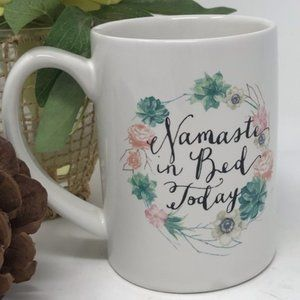 C.R. Gibson Namaste in Bed Today Succulent Mug